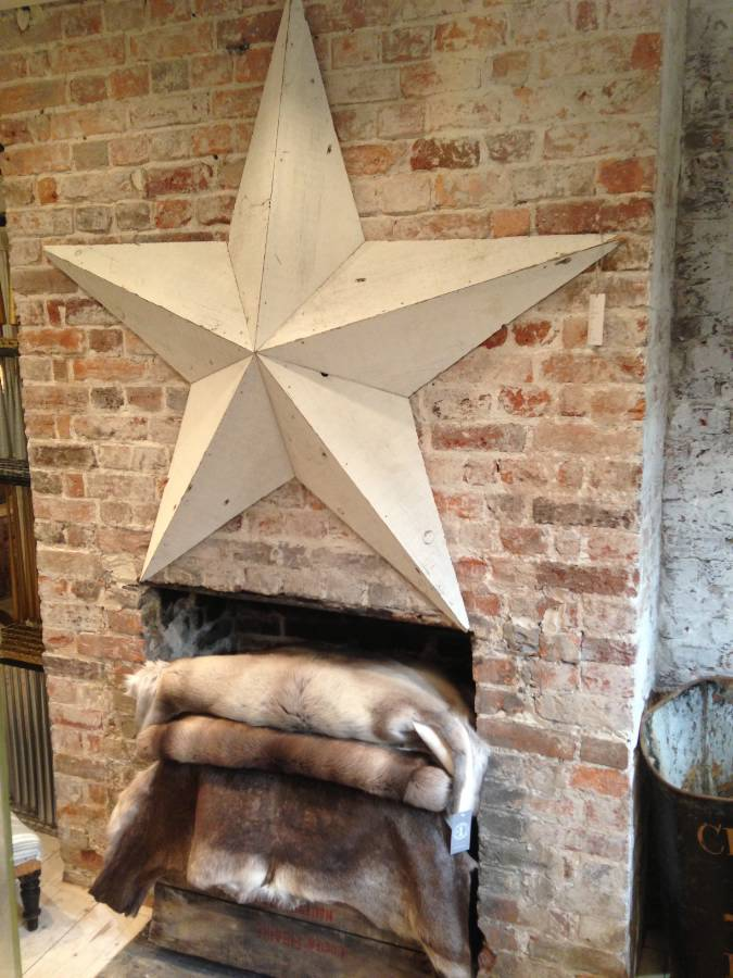 American White Wooden Star In From The Shop Lewes